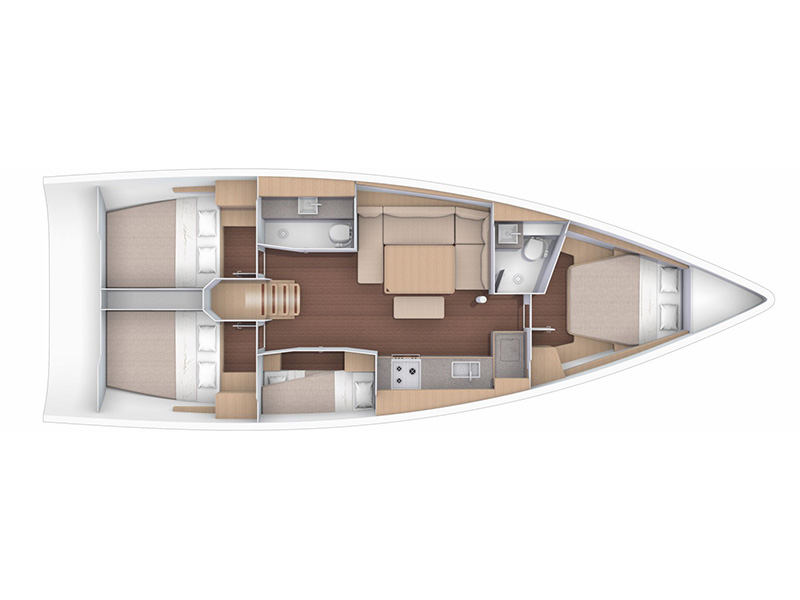 Dufour 430 GL (Magdalena - NEW 2020!) Plan image - 19