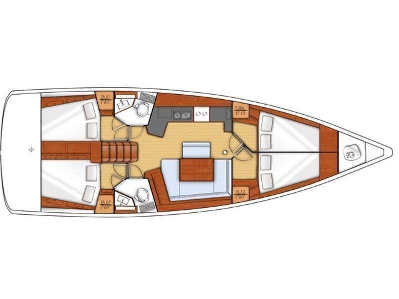 Oceanis 45 (4 cabs) (Foxtrot) Plan image - 12
