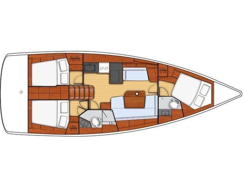 Oceanis 41.1 (Veda) Plan image - 2