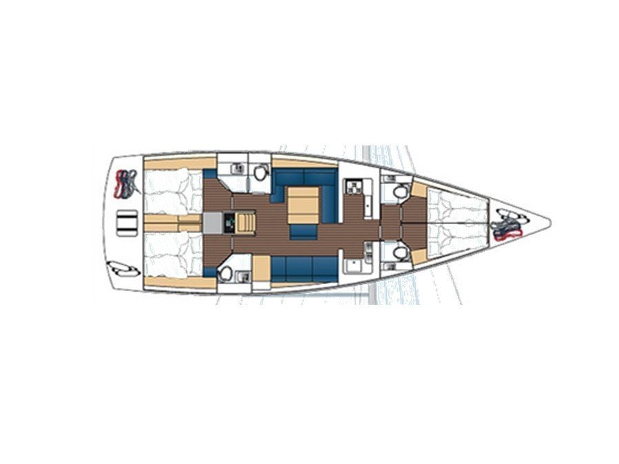 Dufour 512 GL (Kind of Magic) Plan image - 1
