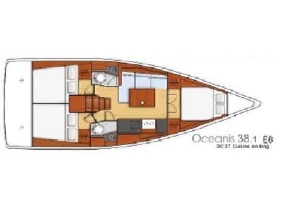 Oceanis 38.1 (TOP) Plan image - 2