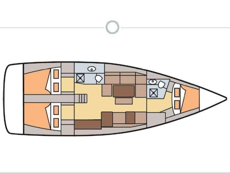 Dufour 410 Grand Large-1 (Balthazar King) Plan image - 9