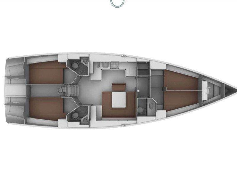 Bavaria Cruiser 45 (Moonmist) Plan image - 8