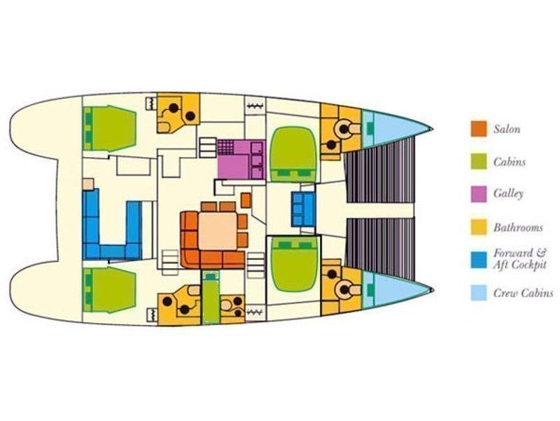 Lagoon 500 (Elvira) Plan image - 9