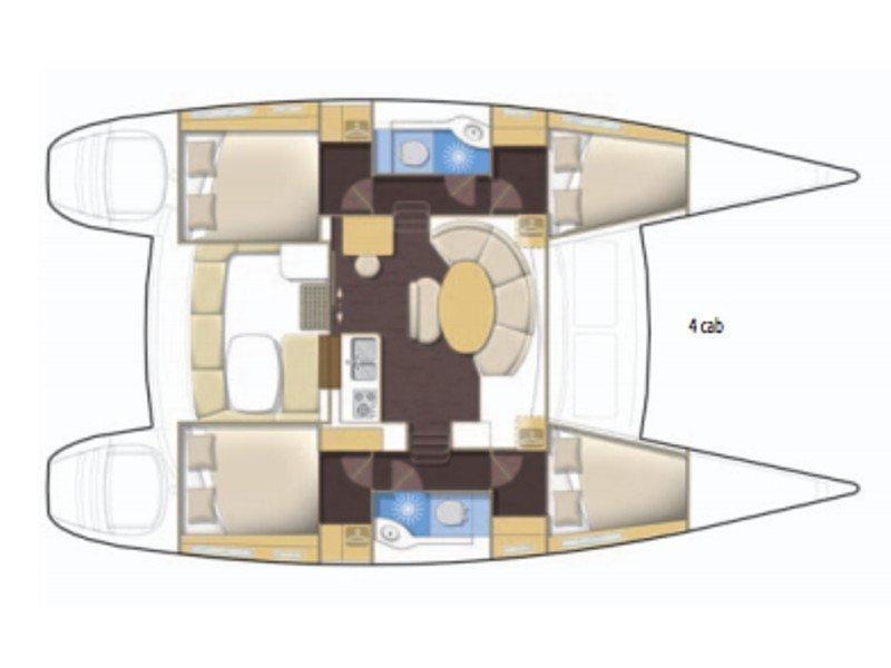 Lagoon 380 (Verenice) Plan image - 8