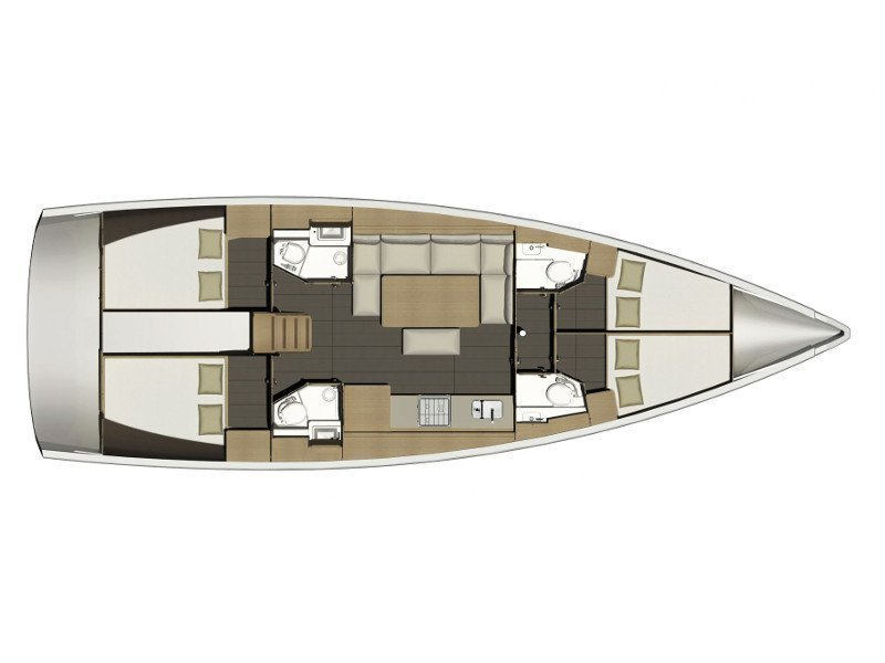 Dufour 460 Grand Large Aquilo 2016 (Aquilo ) Plan image - 5