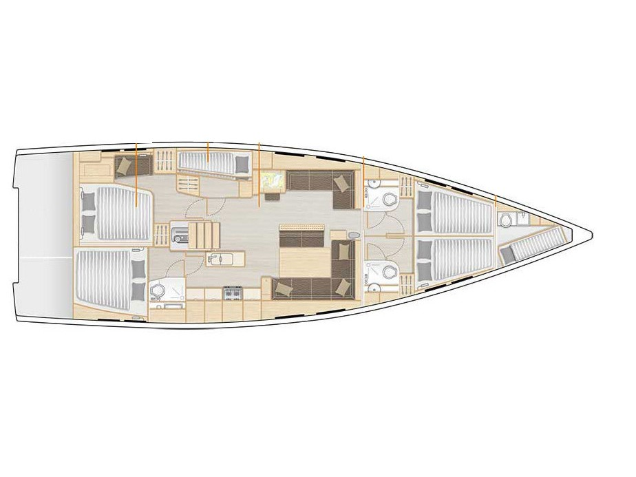 Hanse 548 (Silver Lining) Plan image - 11