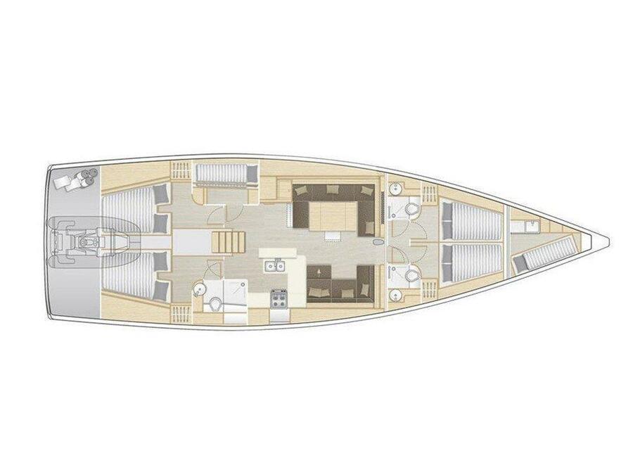 Hanse 588 (Superstar) Plan image - 11