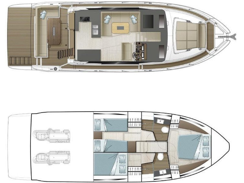 Sealine F430 (BLUE LAGOON) Plan image - 21