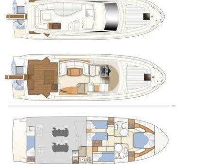 Ferretti 460 (Bluebell) Plan image - 15
