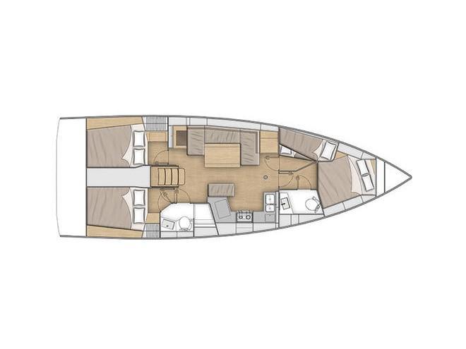 Oceanis 40.1 (KOS 40.2) Plan image - 1