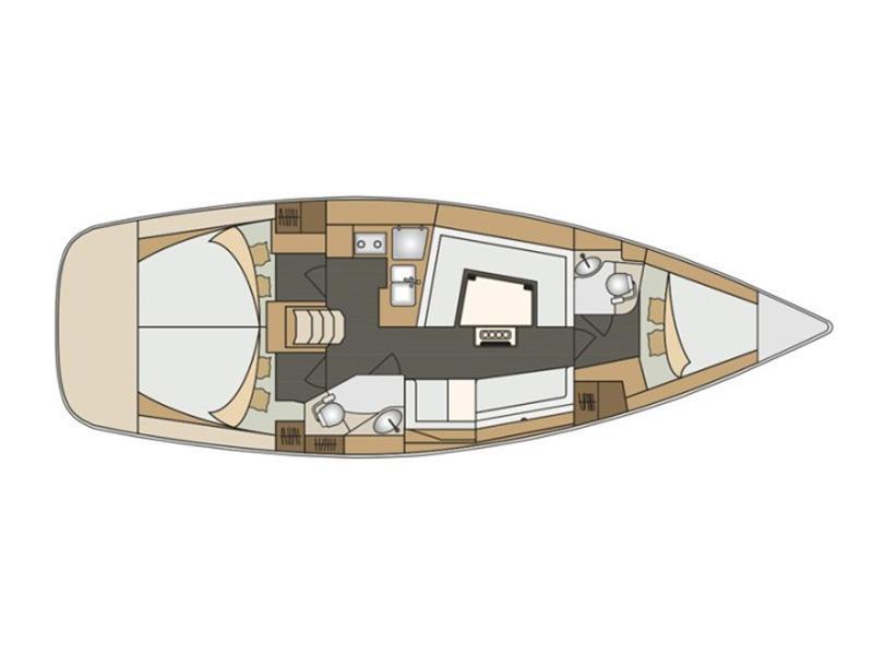 Elan 40 Impression (Silente - Bowthruster, large swimming platform, roll main sail, webasto heating) Plan image - 4