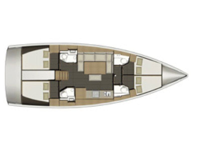 Dufour 460 Grand Large (Odyssea) Plan image - 7