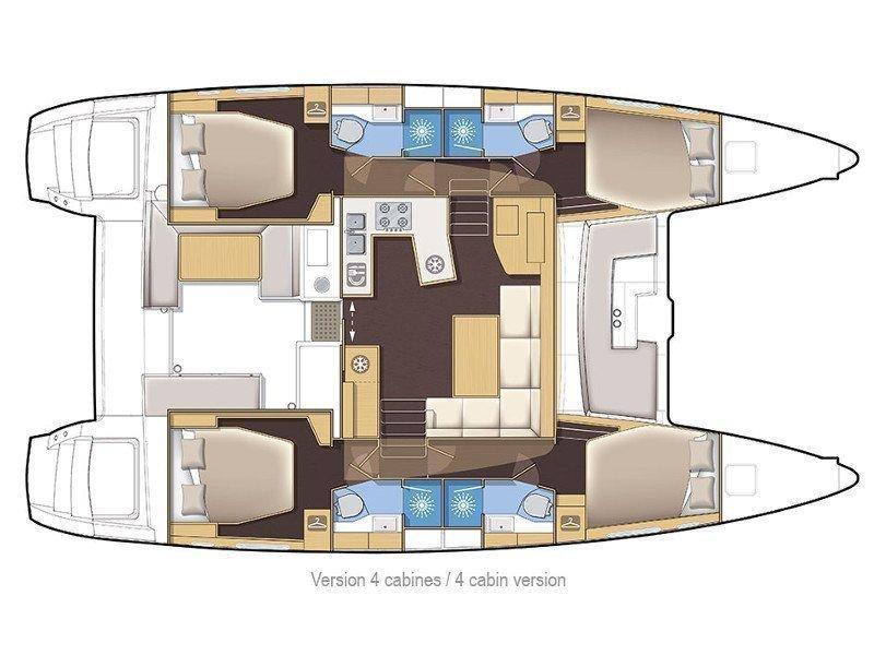 Lagoon 450F (Sunshine) Plan image - 5