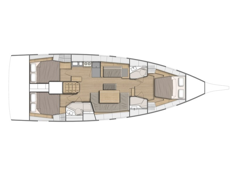 Oceanis 46.1 / 3 cabins (Lady Relax) Plan image - 2
