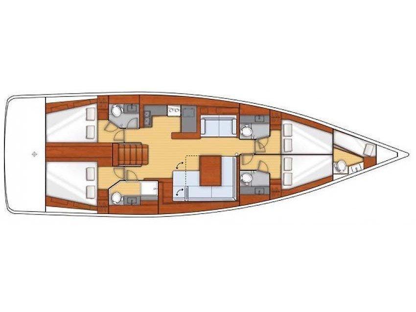 Oceanis 50 Gran Family (Agata) Plan image - 2