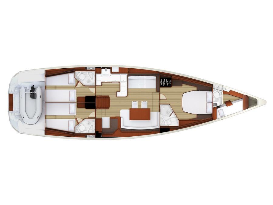 Jeanneau 57 (Seafree) Plan image - 5