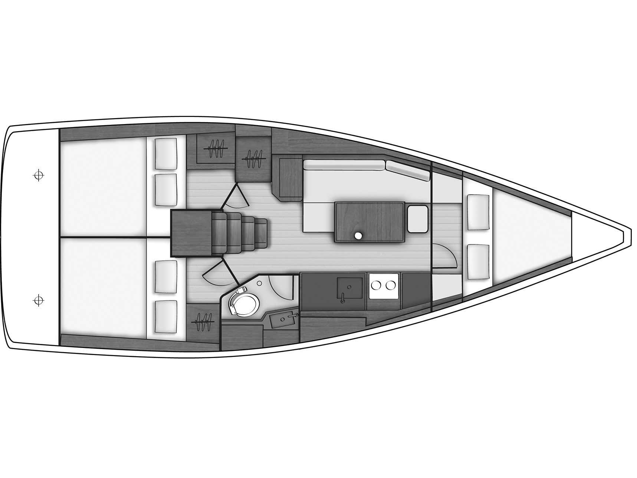 Oceanis 38 (3 cabins) (Salsa) Plan image - 3