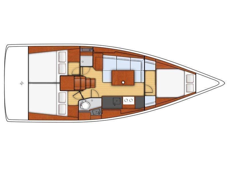 Oceanis 38 (MOIN) Plan image - 4