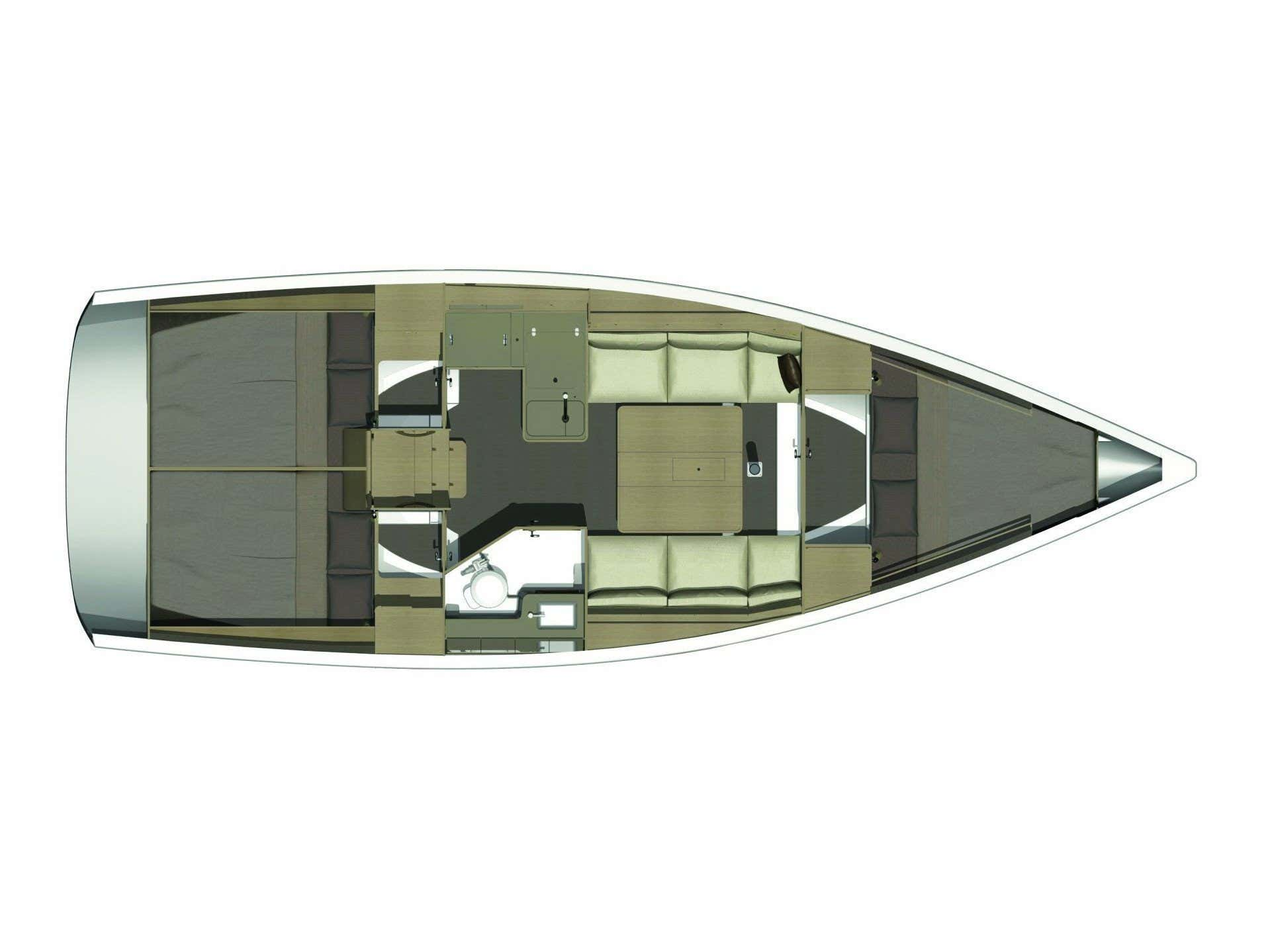 Dufour 350 Grand Large (Mare) Plan image - 3