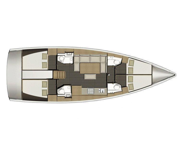 Dufour 460 Grand Large (RUBIN) Plan image - 7