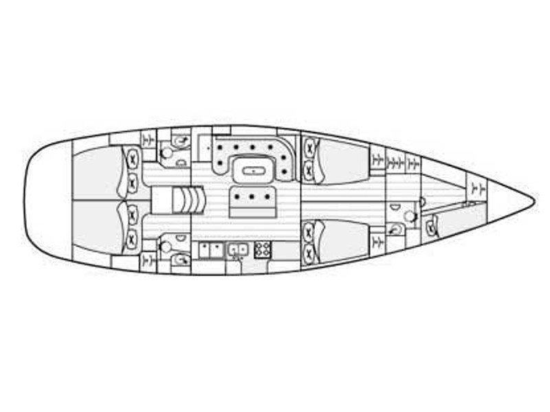 Beneteau 50-5 (Ulimada) Plan image - 14