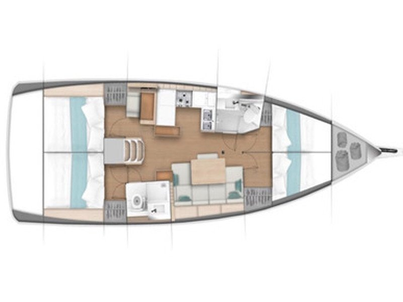 Sunsail  44 SO () Plan image - 2