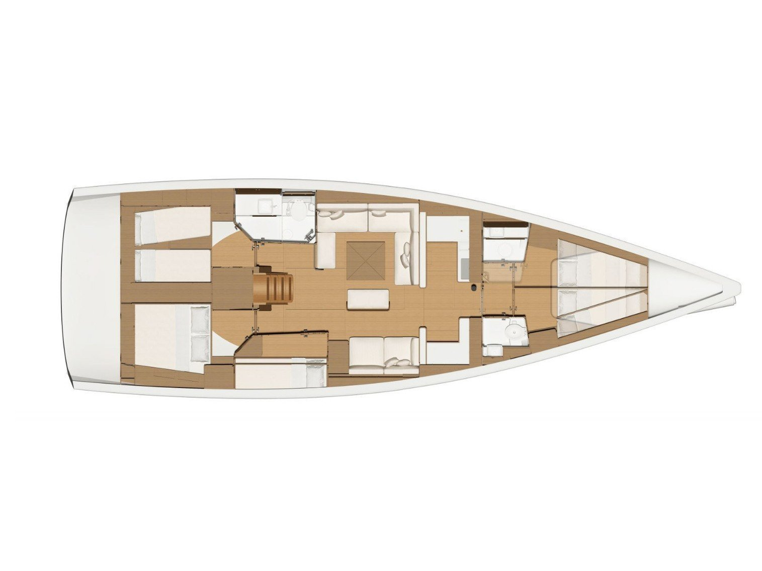 Dufour 520 GL (EURUS - BLUE HULL, AC+GEN., UNDERWATER LIGHTS) Plan image - 4