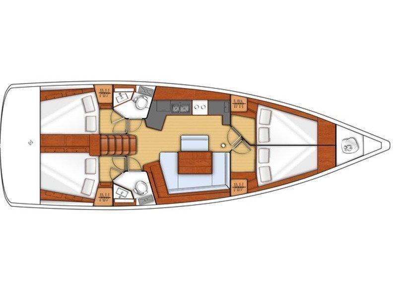 Oceanis 45 (Majka AC,generator,underwater light) Plan image - 9