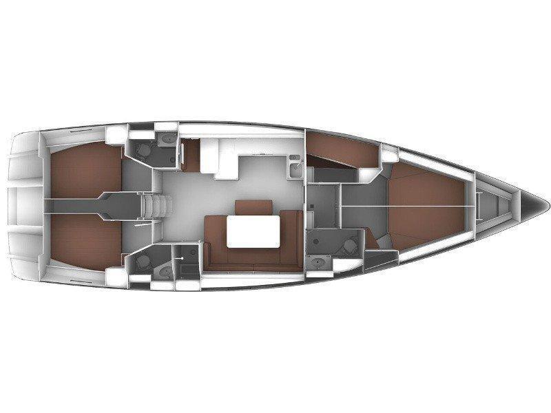 Bavaria Cruiser 51 (Teorema) Plan image - 6