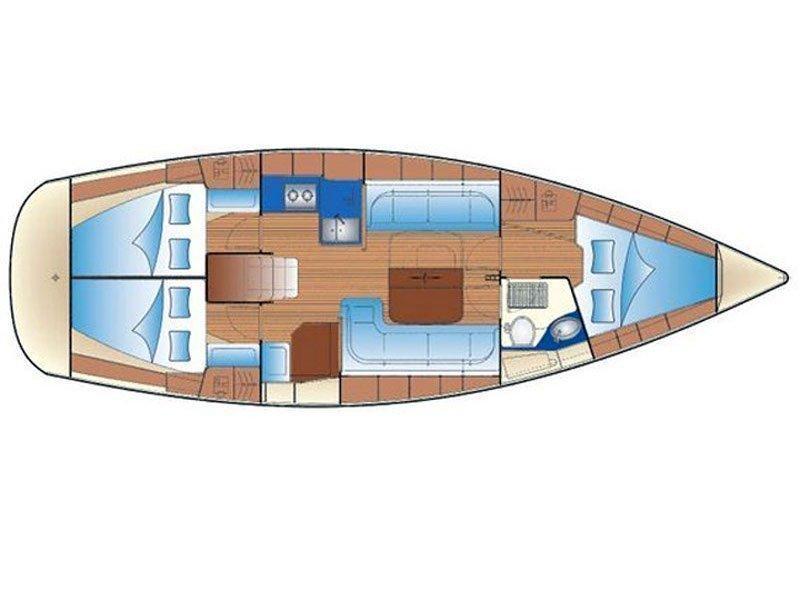 Bavaria Cruiser 37 (Las Cevenas) Plan image - 3