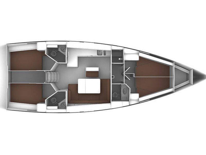 Bavaria Cruiser 46 (Sputnik) Plan image - 1