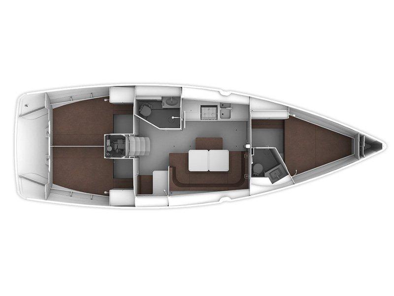 Bavaria Cruiser 41 (Luna II) Plan image - 1