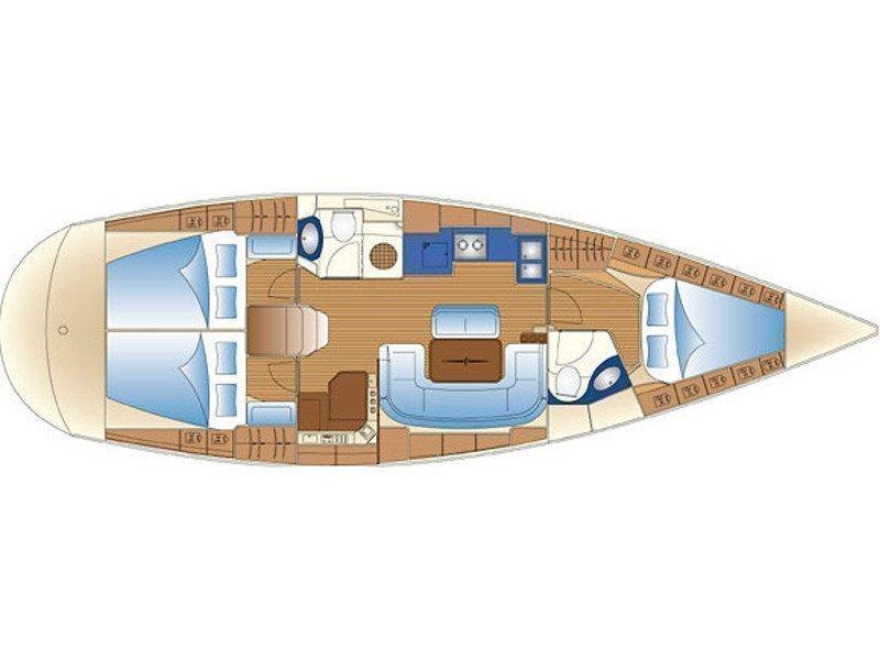 Bavaria 42 (Evra) Plan image - 3