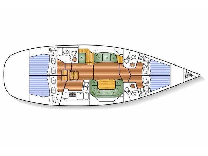 Sun Odyssey 49DS (Idrea) Plan image - 5