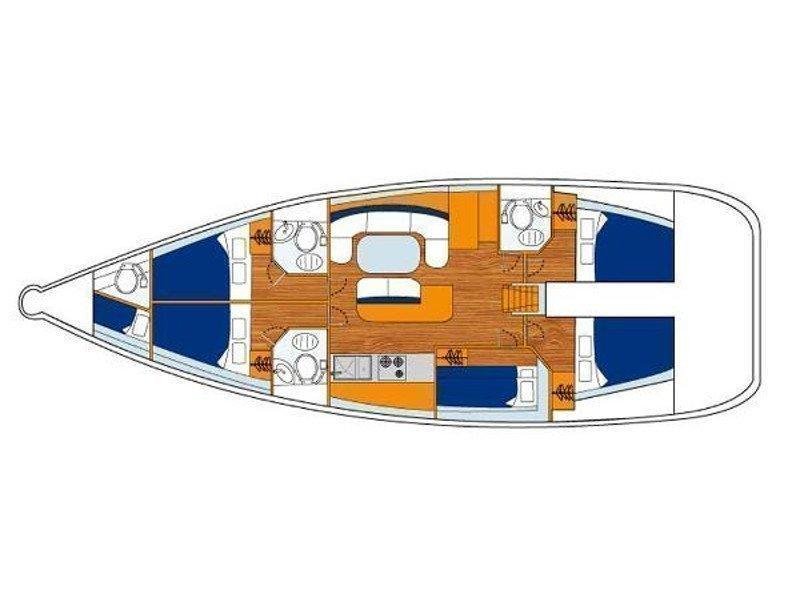 Cyclades 50.5 (Alegria) Plan image - 2