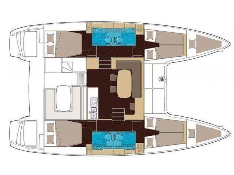 Lagoon 400 (Esmeralda) Plan image - 3