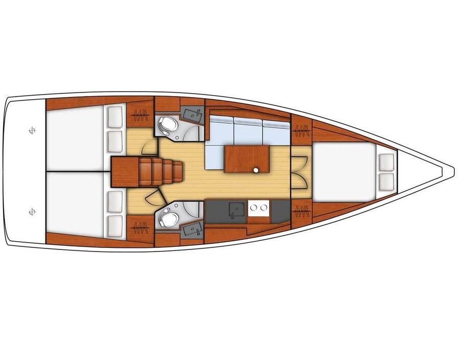 Oceanis 38.1 (Pleasure) Plan image - 4