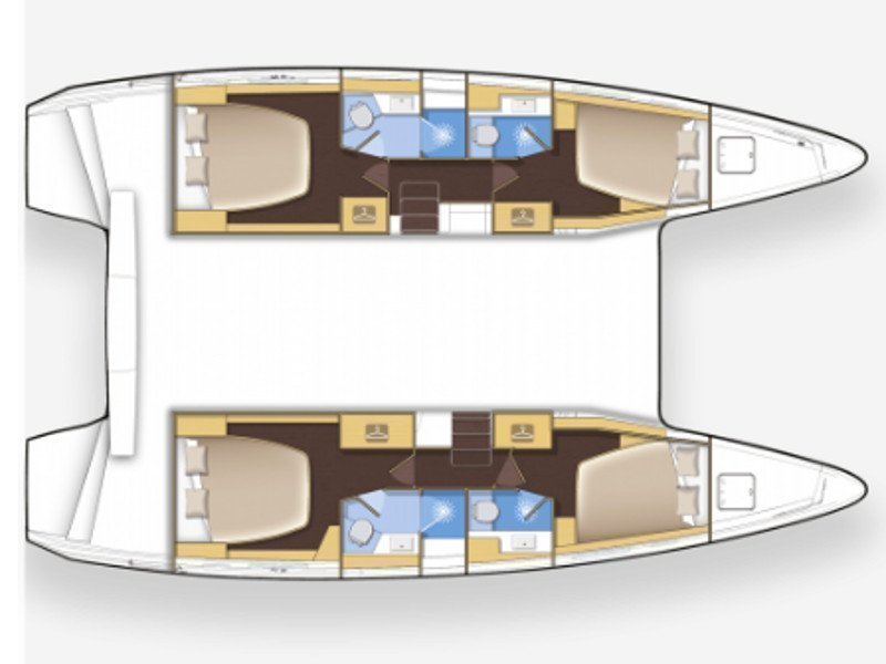 Lagoon 42 (Lagoon 42 Greece: Fully Crewed, ALL EXPENSES) Plan image - 12