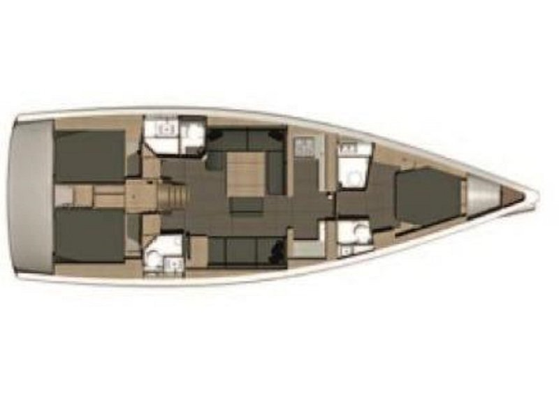 Dufour 512 Grand Large (Miny) Plan image - 5