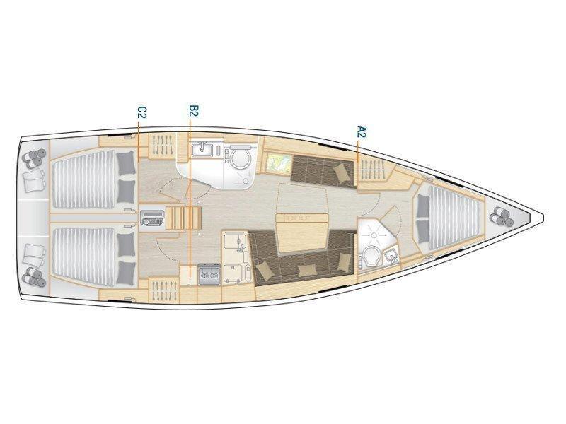 Hanse 418 (Aloisia) Plan image - 4