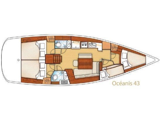 Oceanis 43 (SCARPANTO) Plan image - 7