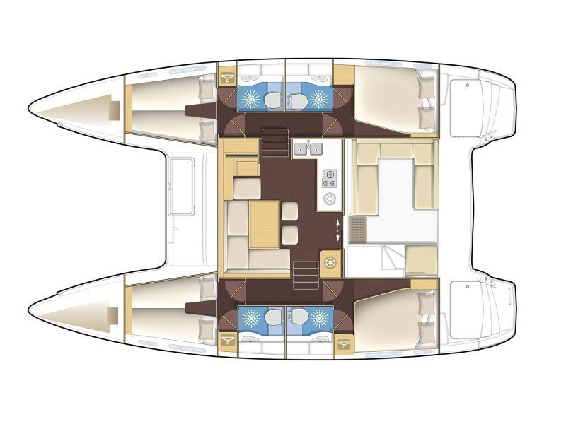 Lagoon 400 S2 (Martina One) Plan image - 7