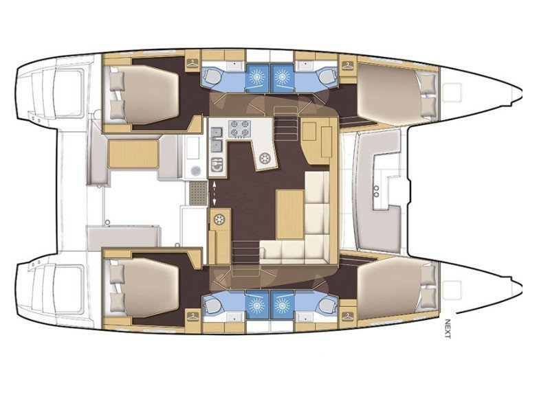 Lagoon 450 F Luxury (ALBA MOUSE feat. A/C and Generator) Plan image - 19