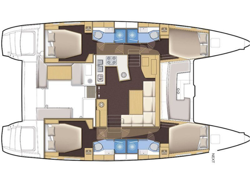 Lagoon 450 F Luxury (BLUE BERRY) Plan image - 9