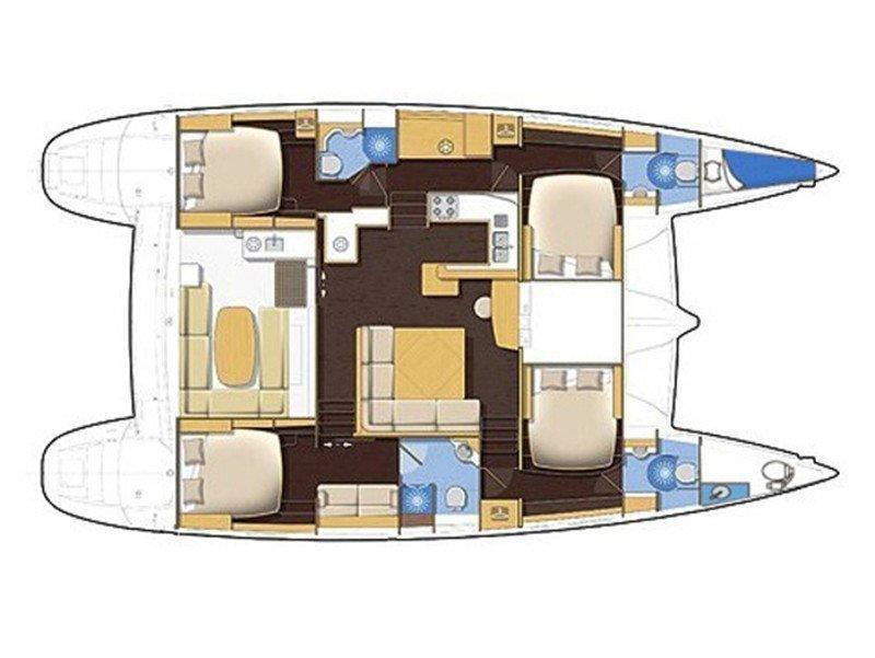 Lagoon 500 Luxury (BOSSA NOVA 1) Plan image - 3