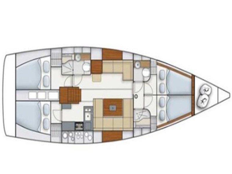 Hanse 445 (HELIOS) Plan image - 3