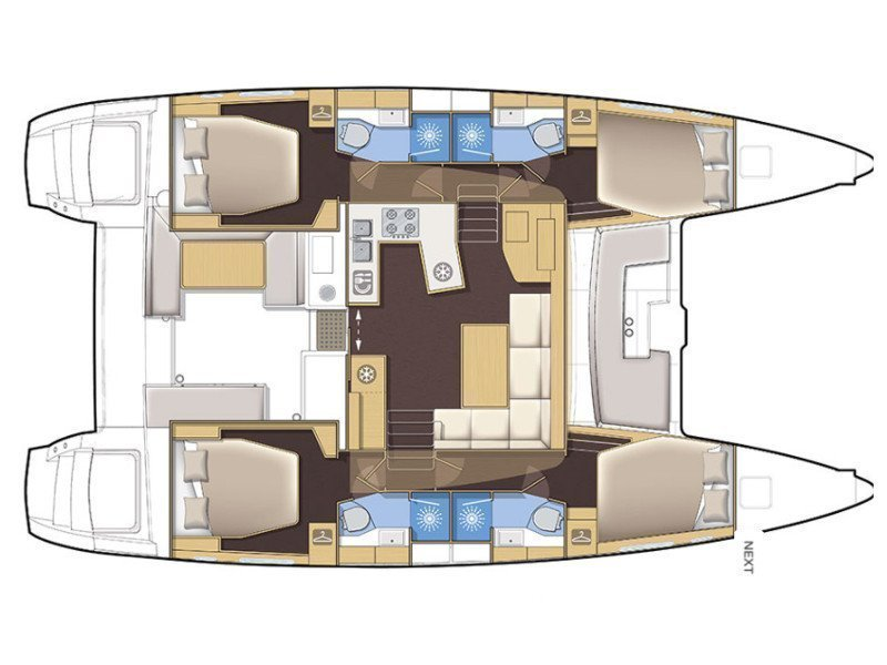 Lagoon 450 F Luxury (BRIGHT MOON) Plan image - 8