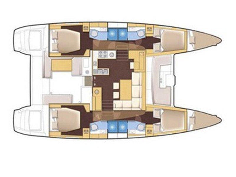 Lagoon 450 Luxury (LU LU ) Plan image - 8