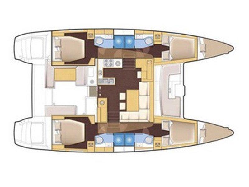 Lagoon 450 Luxury (BRIGHT STAR) Plan image - 3